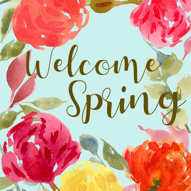 Welcome Spring Bouquet No. 2 Garden Flag