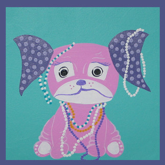 Pearl - Puppy with Necklaces