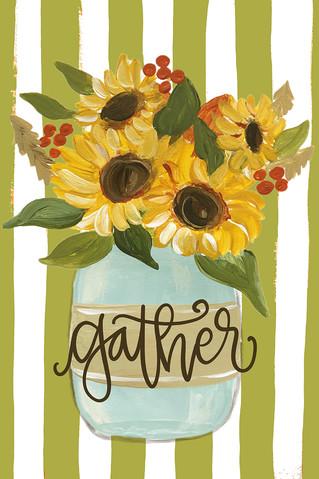 gather sunflower jar green stripes-lr.jpg