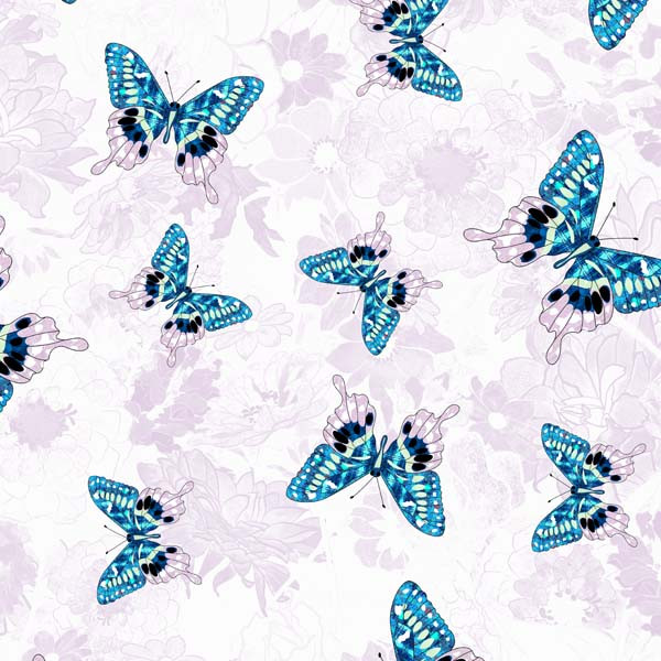 Butterflies with Pink Flowers FC-1