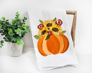 orange pumpkin sunflowers tea towel.jpg