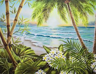 Paradise Beach White Flowers
