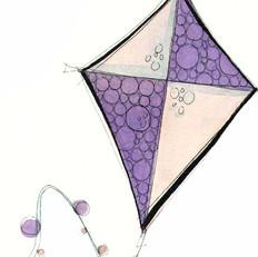 Purple and Pink Kite
