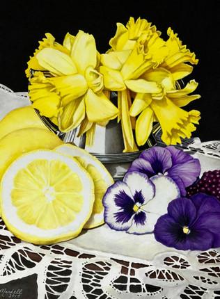 Daffodils, Pansies and Lemons.jpg