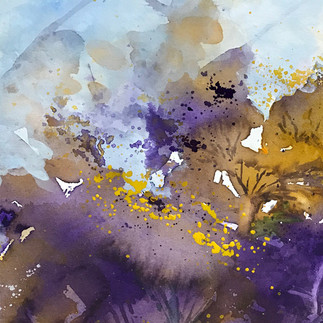 Abstract Purple_Yellow Flower (K27)