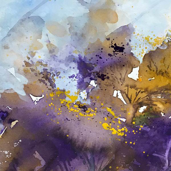 Abstract Purple_Yellow Flower (K27)