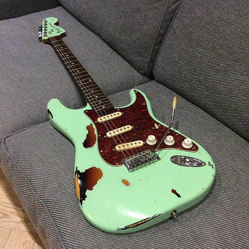 Fender Squier Relic Surf Green