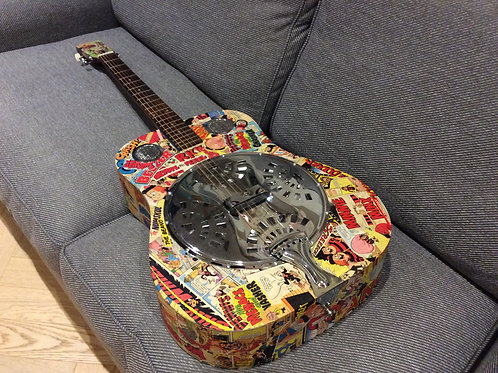 Lorenzo 1970s Gnasherville Resonator Guitar