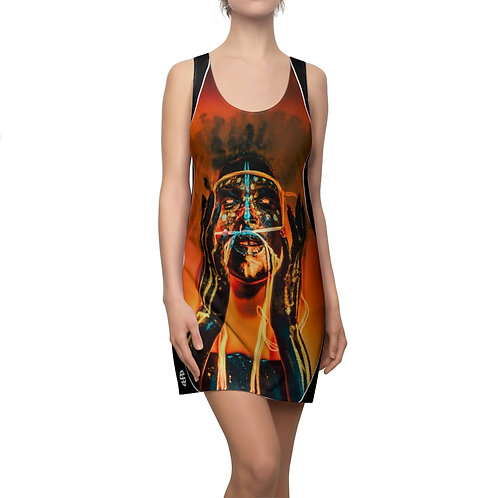 Women's Cut & Sew Racerback Dress - Galactic Aspara