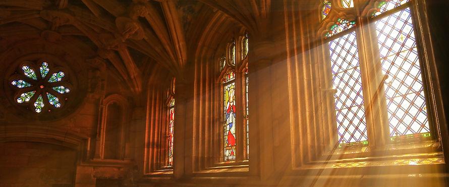 Light through a church window