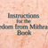 Instructions for the Freedom from Mithraism Book