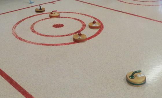 Ladies beat the men at floor curling last Friday (June 29).