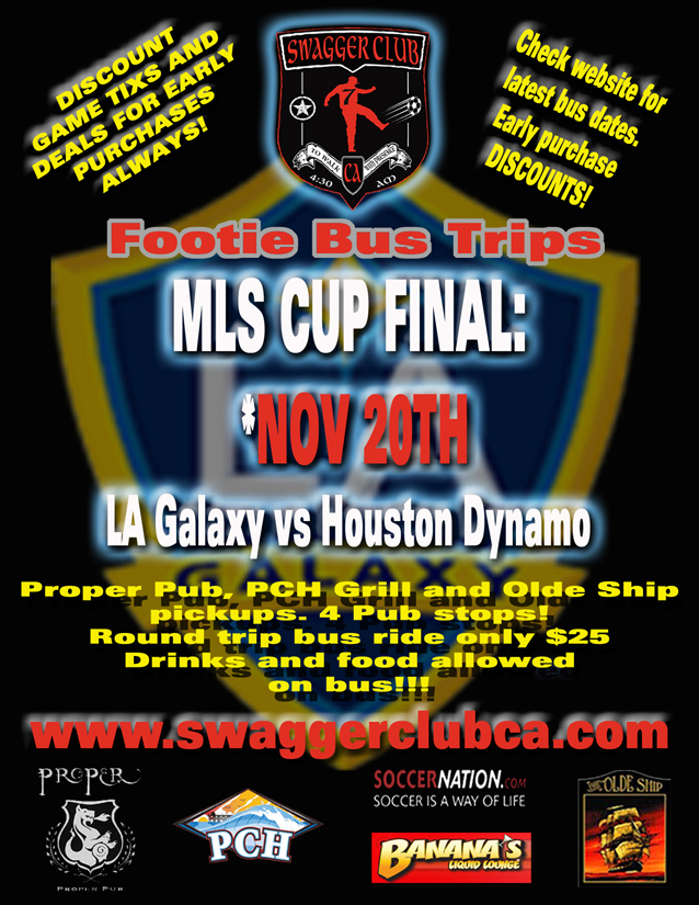 swagger club ca buses events game tickets