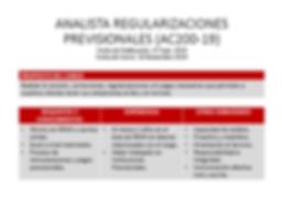 Analista de Regularizaciones Previsional