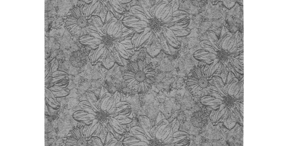 Embossed Floral - Grey - Blanket