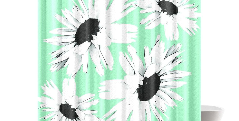 Daisy Love Aqua - Shower Curtain