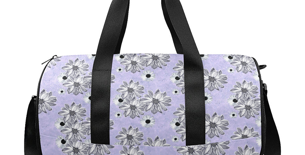 Floral Mauve - Gym / Workout / Camping / Travel Duffel Bag