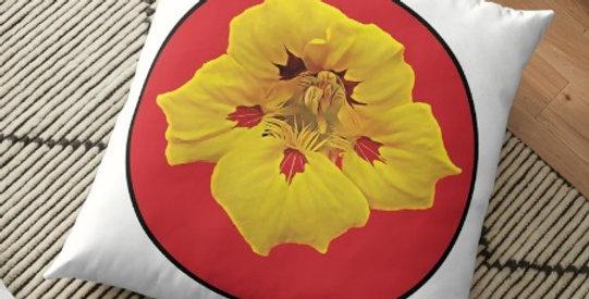 Ladybug Nasturtium Dot - Cushion Cover