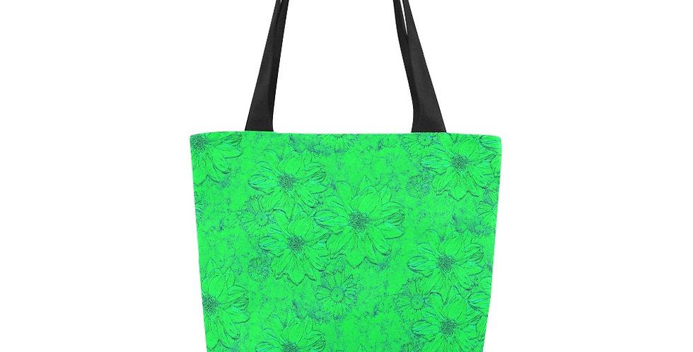 Embossed Floral Green - Tote Bag