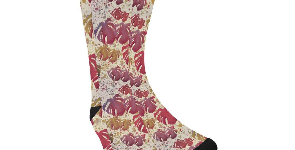 Monstera Vintage - Unisex Socks (Made in Australia)