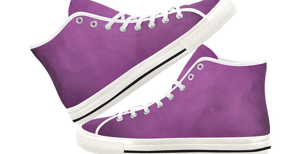 Bearded Iris Pink - Women's High Top Canvas Sneakers