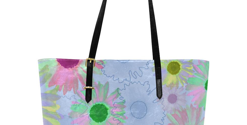Wildflower Blue - Large Tote Bag
