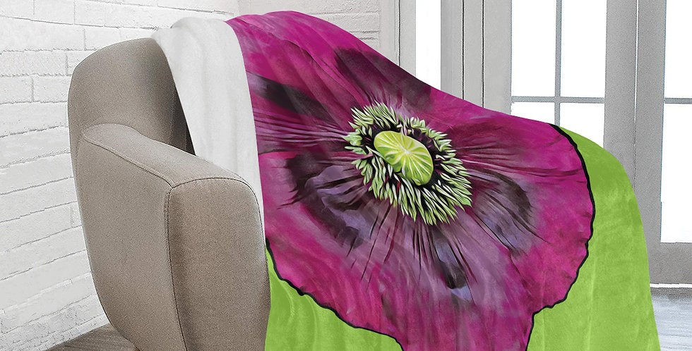 Purple Poppy - Blanket