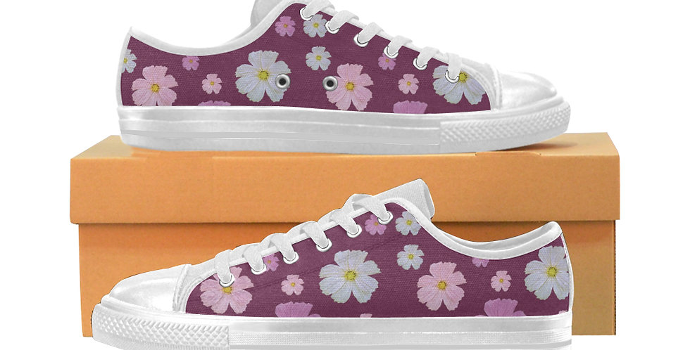 Cosmos and Wine - Women's Canvas Sneakers