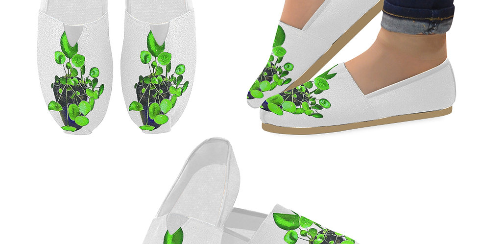 Chinese Money Plant - Slip On Canvas Shoes