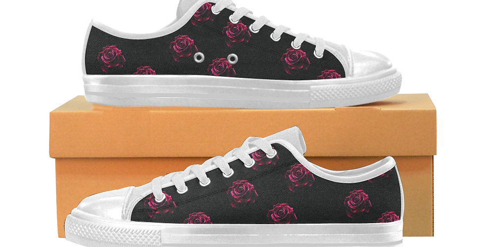 Red Red Roses - Women's Canvas Sneakers