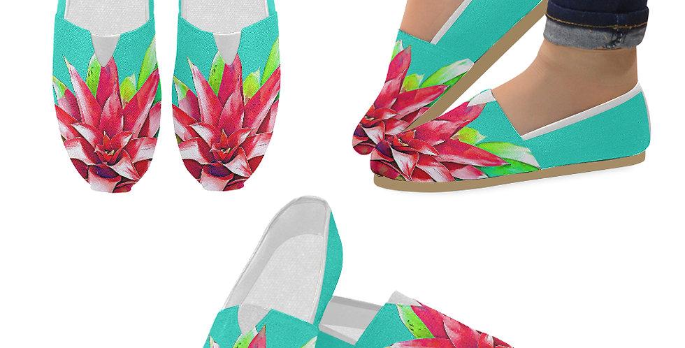 Tropical Bromance - Slip On Canvas Shoes