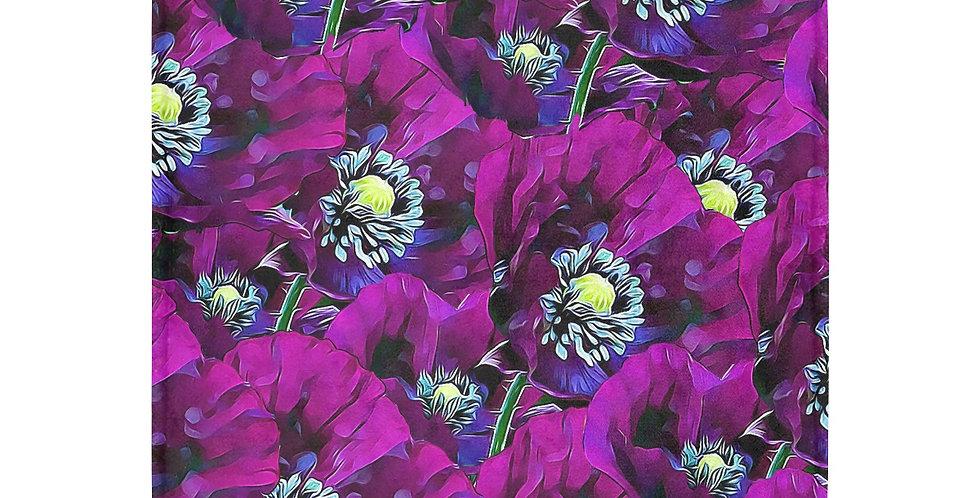 Poppies Purple - Blanket