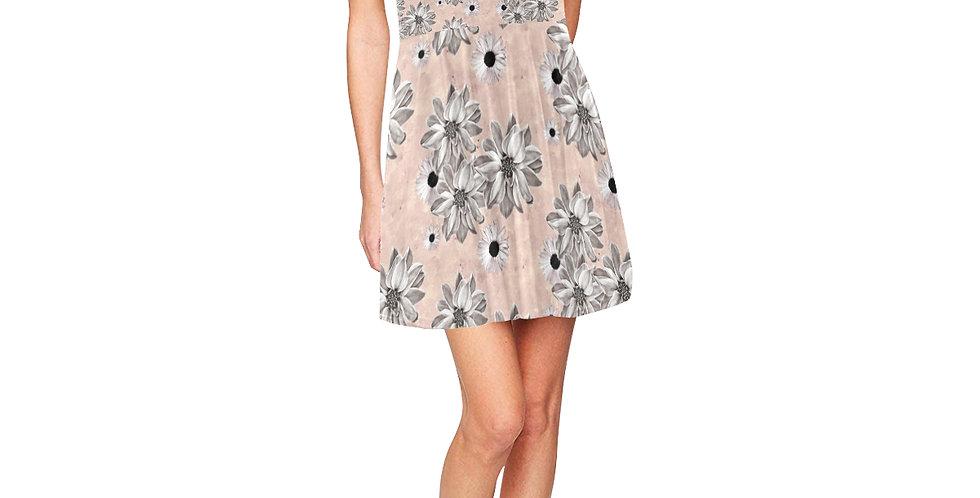 Floral Blush - Skater Dress