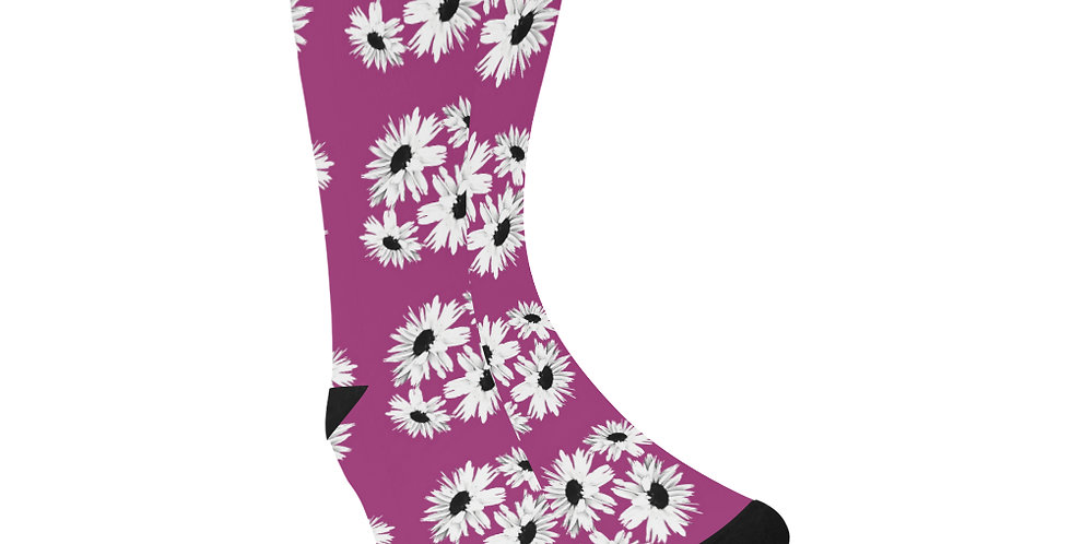 Bunch of Daisies Pink -  Unisex Socks (Made in Australia)