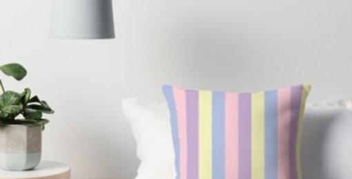 Pastel Stripes Cushion Cover