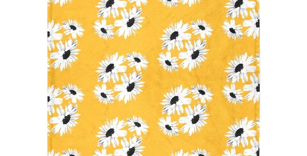 Daisy Love Yellow (small print) - Blanket