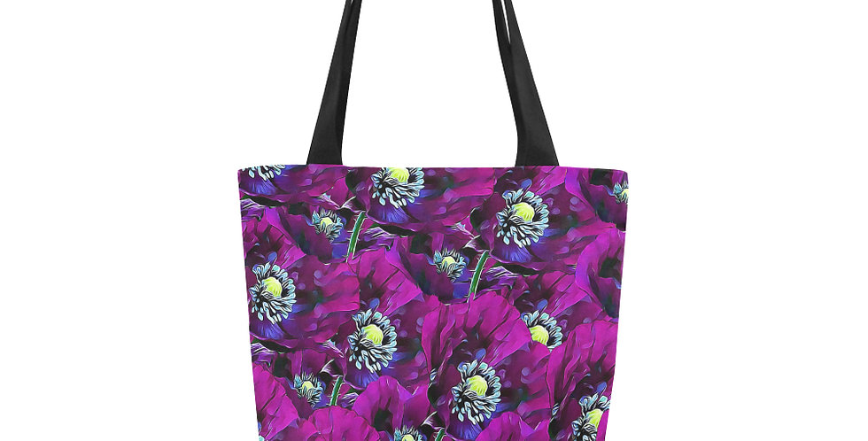 Wild Purple Poppies - Tote Bag