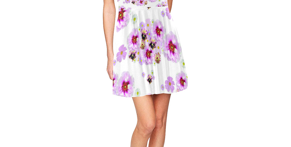 Cotton Candy Floral - Skater Dress
