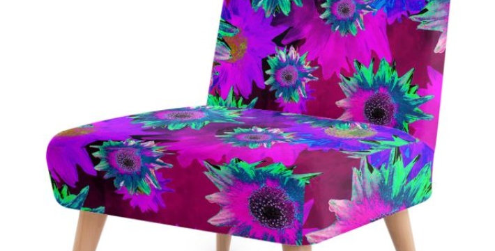 Strawflower Sizzle - Purple - Occasional Chair