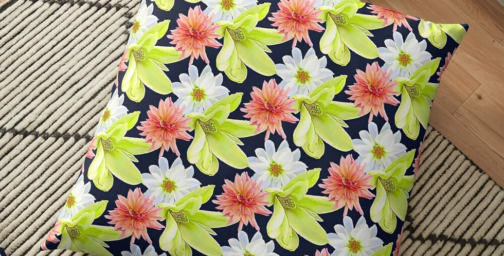 Magnolia Butterflies (small print) - Cushion Cover