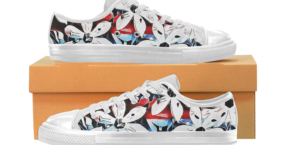 Patriotic Lily - Women's Canvas Sneakers