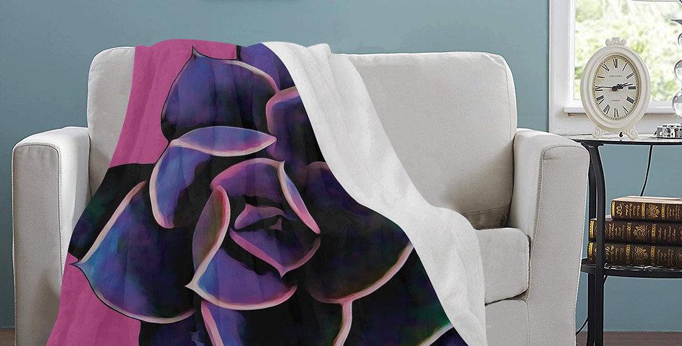 Pink Succulent - Blanket