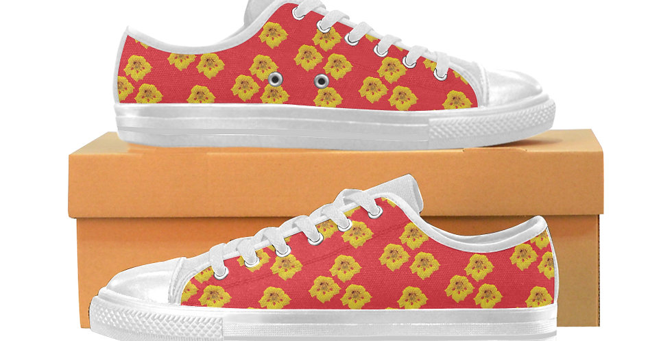 Ladybug Nasturtium - Women's Canvas Sneakers