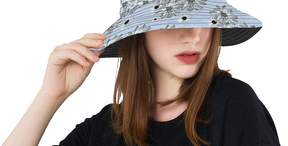 Floral Blue - Bucket Hat