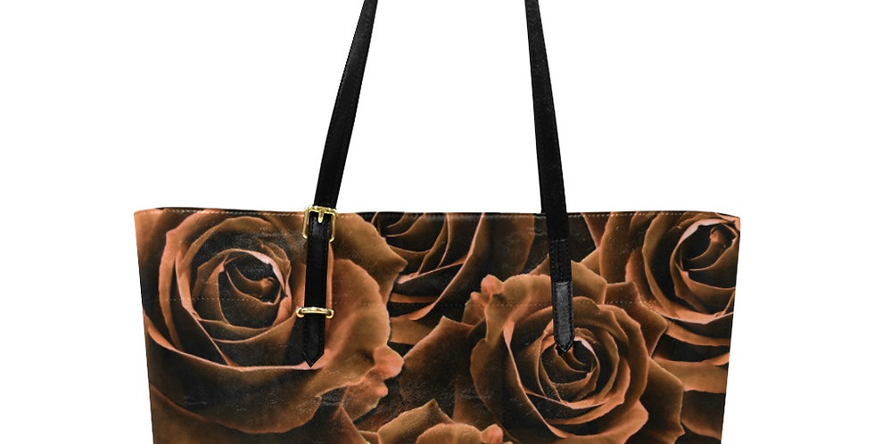 Velvet Rose Chocolate - Large Tote Bag
