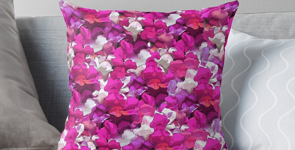 Snappy Purple & Pink - Cushion Cover