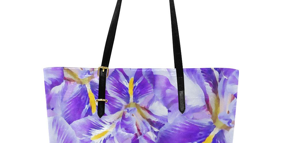 Winter Iris - Large Tote Bag