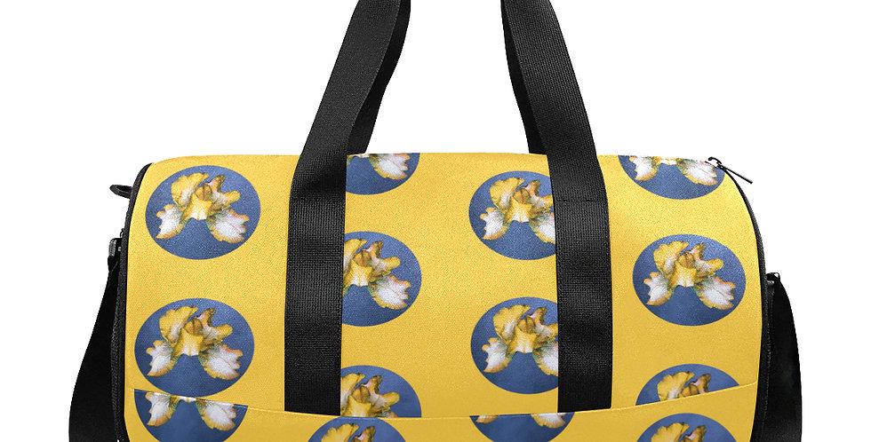Rainbow Iris Dots Yellow & Blue - Gym / Workout / Camping / Travel Duffel Bag