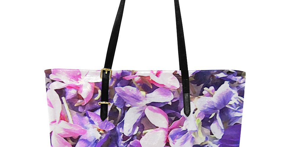 Wild Violets - Large Tote Bag