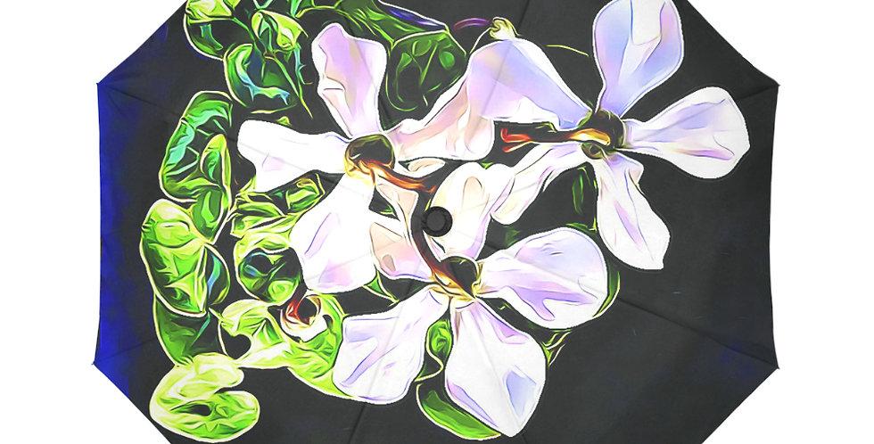 Cyclamen Swirl - Botanical Umbrella